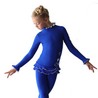 IceDress Figure Skating Outfit - Thermal - Minx (CornFlower with White)