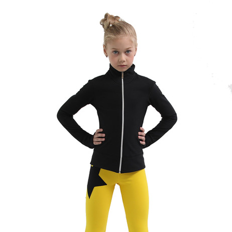IceDress Figure Skating Outfit - Thermal - Disco Dance (Black with Yellow)