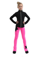 IceDress Figure Skating Outfit - Thermal - Disco Dance (Black with Hot Pink)