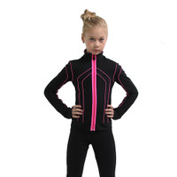 IceDress Figure Skating Outfit - Thermal - Kant (Black with Hot Pink)