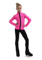 IceDress Figure Skating Outfit - Thermal - Kant (Hot Pink with Black)