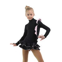 IceDress Figure Skating Dress - Thermal - Flamenco (Black with Light Pink)