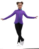 IceDress Figure Skating Jacket - Thermal - Minx (Purple,Turquoise, Black)