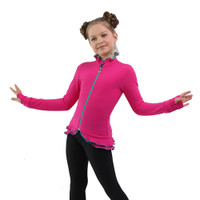 IceDress Figure Skating Jacket - Thermal - Minx (Fuchsia, Turquoise, Black)