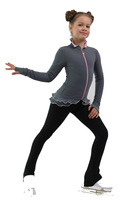 IceDress Figure Skating Jacket - Thermal - Minx (Light Grey, Pink, Black)
