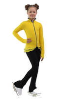 IceDress Figure Skating Jacket - Thermal - Minx (Yellow, Cornflower, Black)