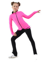 IceDress Figure Skating Jacket - Thermal - Minx (Hot Pink with Black)