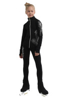 IceDress Figure Skating Jacket - Thermal - Firebird (Black)