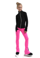 IceDress Figure Skating Jacket - Thermal - Disco Dance (Black with Hot Pink)