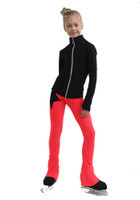 IceDress Figure Skating Jacket - Thermal - Disco Dance (Black with Hot Coral)