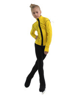 IceDress Figure Skating Jacket - Thermal - Kant (Yellow with Black)