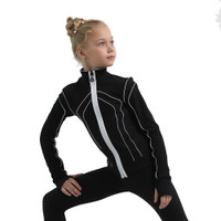IceDress Figure Skating Jacket - Thermal - Kant (Black with White)
