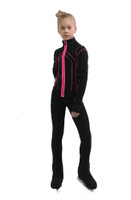 IceDress Figure Skating Pants - Thermal - Kant (Black with Hot Pink)