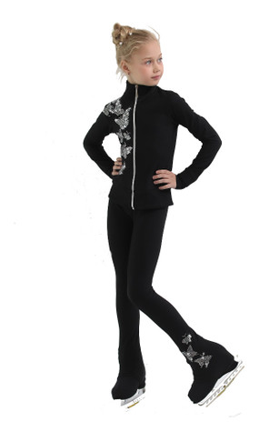 IceDress Figure Skating Jacket - Thermal - Fary Tale (Black)