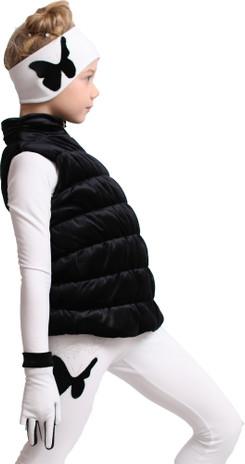 IceDress Figure Skating Vest - Thermal - Velvet (Black)