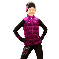 IceDress Figure Skating Vest - Thermal - Velvet (Fuchsia)