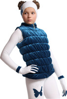 IceDress Figure Skating Vest - Thermal - Velvet (Aquamarine)