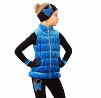 IceDress Figure Skating Vest - Thermal - Velvet (Blue)