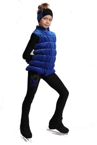 IceDress Figure Skating Vest - Thermal - Velvet (Cornflower)