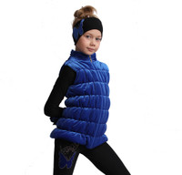 IceDress Figure Skating Vest - Thermal - Velvet (Cornflower)