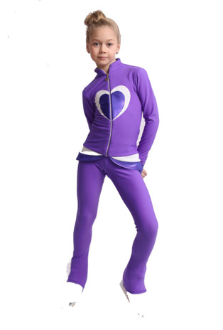 IceDress Figure Skating Outfit - Thermal - Tutti Frutti(Purple, White)