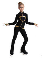 IceDress Figure Skating Outfit - Thermal - Tutti Frutti(Black with Gold)