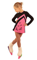 IceDress Figure Skating Dress - Thermal - Velvet (Black with  Pink)