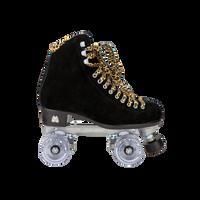 Riedell Quad Roller Skates - Panther Black Suede