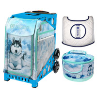 Zuca Sport Bag - Husky with Husky Lunchbox and Ice Garden Seat Cover (Blue Frame)