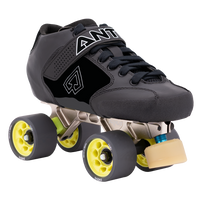 Riedell Quad Roller Skates - Antik Jet Carbon Performance Skate Set