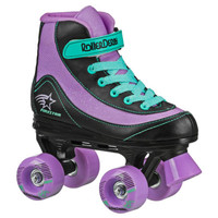 Roller Derby Recreational Roller Skates - FireStar Youth Girl's Roller Skate - Purple/Black/Mint