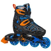 Roller Derby - Tracer Boy's Adjustable Inline Skates (Black/Blue)