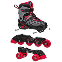 Roller Derby - 2N1 Boys Inline and Quad Skate Combo (Adjustable Size 3-6)