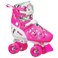 Roller Derby Recreational Roller Skates - Trac Star Youth Girl's Adjustable Roller Skate