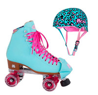 Moxi Combo Set - Beach Bunny Roller Skate (Blue Sky) & Helmet (Leo)