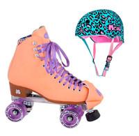 Moxi Combo Set - Beach Bunny Roller Skate (Peach Blanket ) & Helmet (Leo)