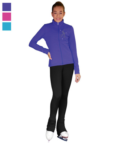 ChloeNoel Outfit -JT811 Mini Skating Crystals Jacket and ChloeNoel P22 Pants