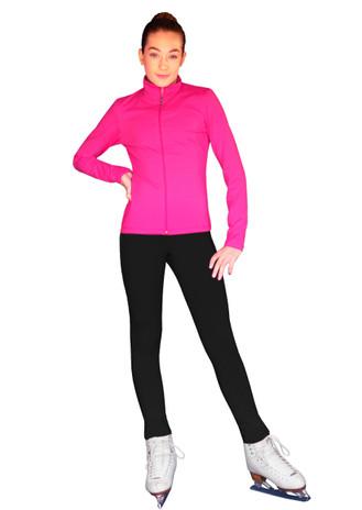 ChloeNoel Outfit -  JS735 Solid Color Elite Ice Skating Jacket w/ Thumb Holes (no crystals) and ChloeNoel P22 Pants