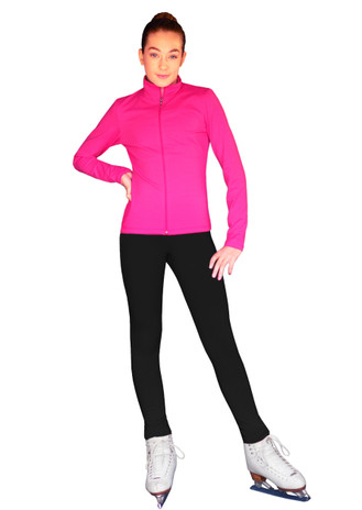 ChloeNoel Outfit -  JS735 Solid Color Elite Ice Skating Jacket w/ Thumb Holes (no crystals) and ChloeNoel P23 Pants