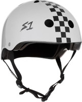 S1 Lifer Helmet - White Gloss w/ Checkers