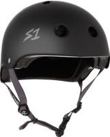 S1 Lifer Helmet - Black Matte w/ Grey Straps