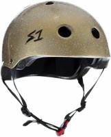 S1 Mini Lifer Helmet - Gold Gloss Glitter