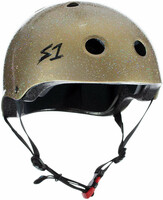 S1 Mini Lifer Helmet - Gold Gloss Glitter