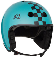 S1 Retro Lifer Helmet - Lagoon Gloss w/ Checkers