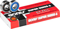 Bones Super Swiss 6 Skateboard Bearings (8 Pack)