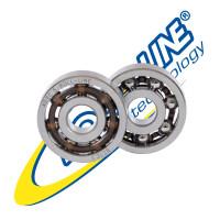 Roll-Line Carbon J ABEC 5 – 7mm Roller Skate Bearings (Set of 16)