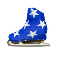 Metallic Figure Skating Boot Covers by Kami-So - American Flag