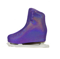Metallic Figure Skating Boot Covers by Kami-So - Liliac Hologram