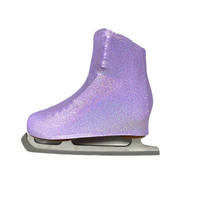 Metallic Figure Skating Boot Covers by Kami-So - Liliac Sparkle