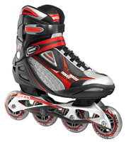 Roces Men's Inline Outdoor Skates - R-200 (Black/Red)- Size MEN 7 /WOMAN 8  Only (Refurbished)